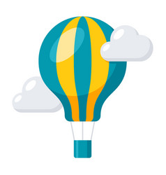 aeronautics balloon icon vector image
