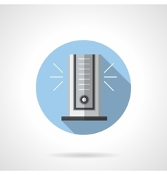 Air cooler with ionizer round flat icon vector image