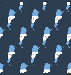 Argentina map with flag pattern vector