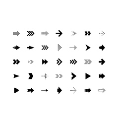 Arrow sign icons set vector image