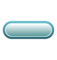 Blue rectangle button icon flat style vector