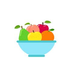 Bowl fruit vector