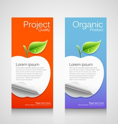 Brochure design apple concept vector