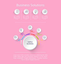 Business solutions pink on vector
