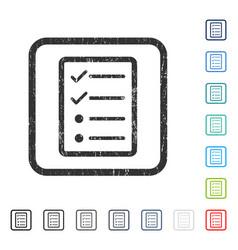 Checklist page icon rubber watermark vector