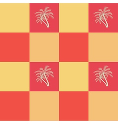 Coconut palm trees seamless pattern background vector