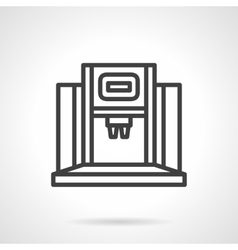 Coffee appliance simple line icon vector