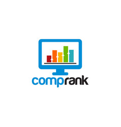 computer rank logo designs stats logo vector image