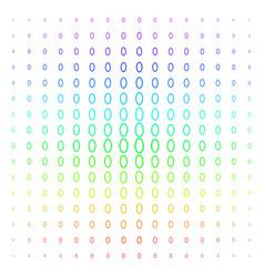 Contour ellipse icon halftone spectral pattern vector