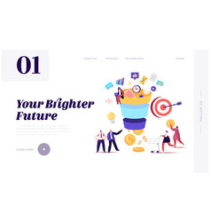 conversion rate optimization landing page template vector image