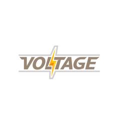 Creative letter voltage text symbol design logo vector