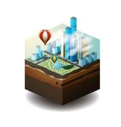 Cube city vector