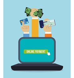Digital payment design vector image