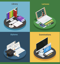 E-learning isometric concept vector