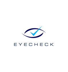 eye check logo icon vector image