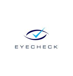 Eye check logo icon vector