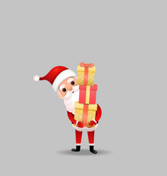 funny happy santa claus character on background vector image