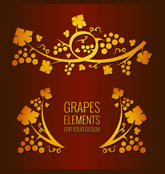grapes elements vector image