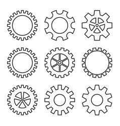 icons gear wheel vector image