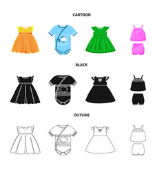 Isolated object fashion and garment logo set vector