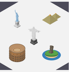 Isometric attraction set of rio chile coliseum vector