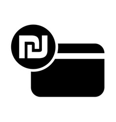 israeli shekel credit card icon vector image