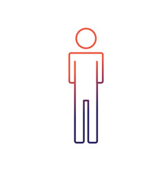 line man pictogram icon flat vector image