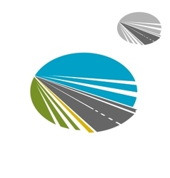 Long road or highway and blue sky icon vector image