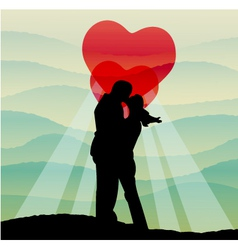 Love on earth vector