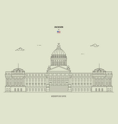 Mississippi state capitol in jackson usa vector