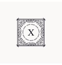 Monogram luxury frame vector image