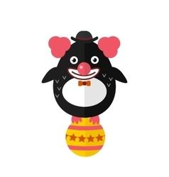 Penguin clown animal character vector image
