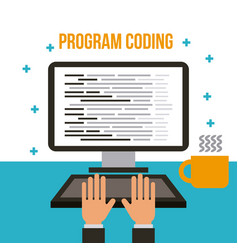 Program coding wed software development languages vector