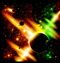 Retro space background vector