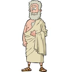 Roman philosopher vector
