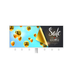 sale special offer billboard with banner for vector image