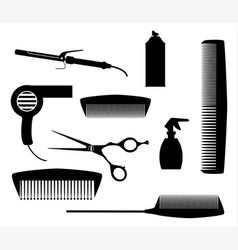 salon tools vector image