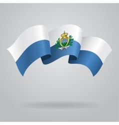 San Marino waving Flag vector image