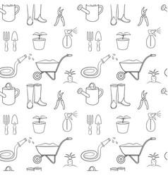 Seamless pattern of gardening vector