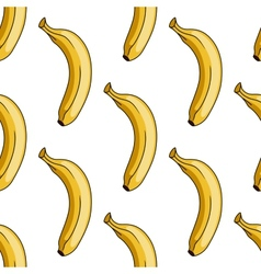 Seamless pattern of yellow banana vector image