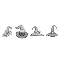 Set of Halloween Hats vector