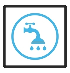 Shower Tap Framed Icon vector