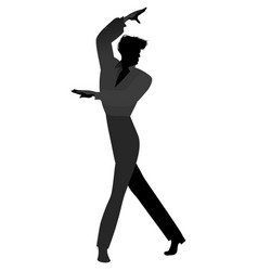 Silhouette of spanish flamenco dancer man vector