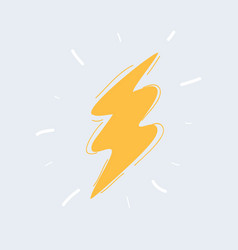 sketch zigzag lightning vector image