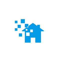 smart home logo design template vector image