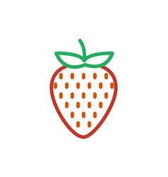 strawberry color icon line symbol isolated vector image