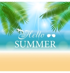 Summer Sunny Natural Background vector image