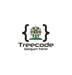 tech code logo vector image