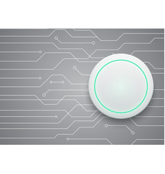 technology future circuit white modern circle vector image