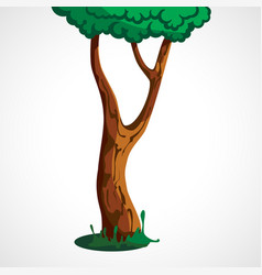 the cartoon tree vector image